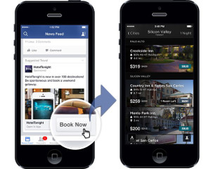 Facebook Ads mobile with call to action